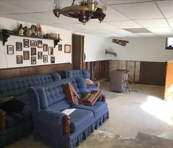 Chanhassen flooded basement after clean up